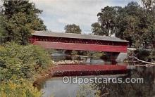 cou101123 - Covered Bridge Vintage Postcard