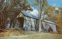 cou101124 - Covered Bridge Vintage Postcard