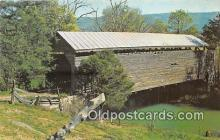 cou101125 - Covered Bridge Vintage Postcard