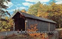 cou101127 - Covered Bridge Vintage Postcard