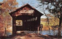 cou101130 - Covered Bridge Vintage Postcard