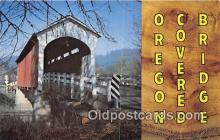 cou101131 - Covered Bridge Vintage Postcard