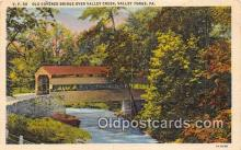cou101132 - Covered Bridge Vintage Postcard