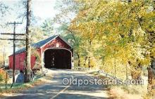cou101133 - Covered Bridge Vintage Postcard