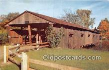 cou101134 - Covered Bridge Vintage Postcard