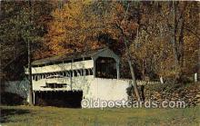 cou101140 - Covered Bridge Vintage Postcard