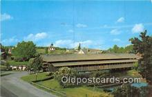 cou101142 - Covered Bridge Vintage Postcard
