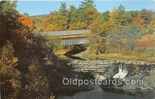 cou101144 - Covered Bridge Vintage Postcard