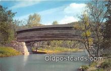 cou101145 - Covered Bridge Vintage Postcard