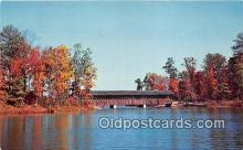cou101147 - Covered Bridge Vintage Postcard
