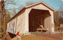 cou101150 - Covered Bridge Vintage Postcard