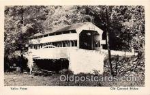 cou101152 - Covered Bridge Vintage Postcard