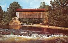 cou101155 - Covered Bridge Vintage Postcard