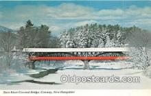 cou101156 - Covered Bridge Vintage Postcard