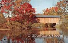 cou101157 - Covered Bridge Vintage Postcard