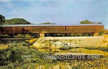 cou101160 - Covered Bridge Vintage Postcard
