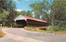 cou101163 - Covered Bridge Vintage Postcard