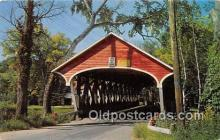 cou101165 - Covered Bridge Vintage Postcard