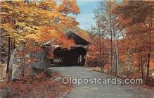 cou101169 - Covered Bridge Vintage Postcard