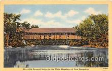 cou101170 - Covered Bridge Vintage Postcard
