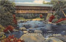 cou101171 - Covered Bridge Vintage Postcard