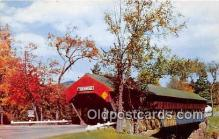 cou101177 - Covered Bridge Vintage Postcard