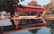 cou101182 - Covered Bridge Vintage Postcard