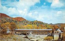 cou101190 - Covered Bridge Vintage Postcard