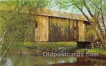 cou101191 - Covered Bridge Vintage Postcard