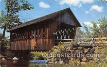 cou101192 - Covered Bridge Vintage Postcard