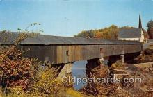 cou101193 - Covered Bridge Vintage Postcard