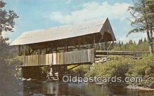 cou101194 - Covered Bridge Vintage Postcard