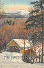 cou101195 - Covered Bridge Vintage Postcard