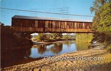 cou101198 - Covered Bridge Vintage Postcard