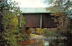 cou101200 - Covered Bridge Vintage Postcard