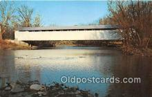 cou101202 - Covered Bridge Vintage Postcard