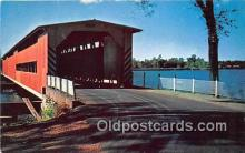 cou101204 - Covered Bridge Vintage Postcard