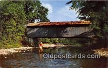 cou101209 - Covered Bridge Vintage Postcard