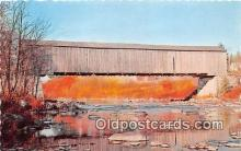 cou101210 - Covered Bridge Vintage Postcard