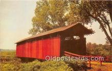 cou101213 - Covered Bridge Vintage Postcard