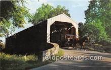 cou101214 - Covered Bridge Vintage Postcard
