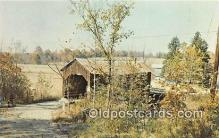 cou101215 - Covered Bridge Vintage Postcard
