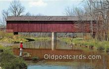 cou101219 - Covered Bridge Vintage Postcard