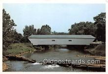 cou101221 - Covered Bridge Vintage Postcard
