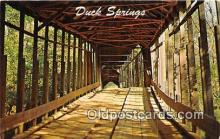cou101224 - Covered Bridge Vintage Postcard
