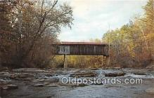cou101227 - Covered Bridge Vintage Postcard