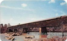 cou101228 - Covered Bridge Vintage Postcard