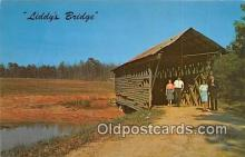 cou101236 - Covered Bridge Vintage Postcard