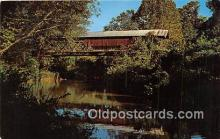 cou101237 - Covered Bridge Vintage Postcard