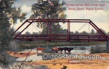cow000074 - Bridge across Mill Creek Black Hawk Watch Tower Postcard Post Card
